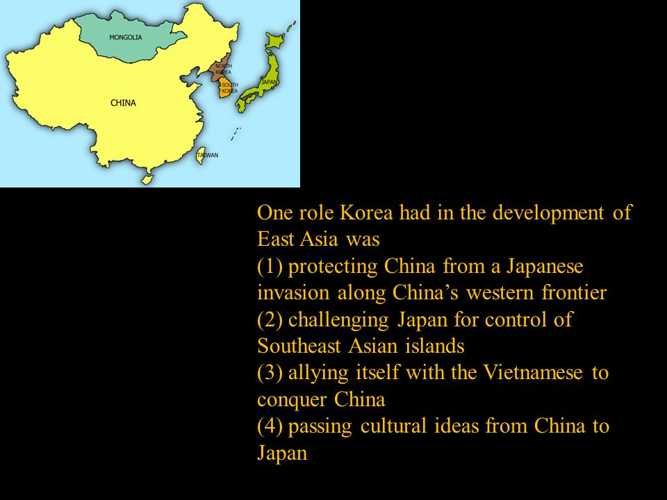 One role Korea had in the development of East Asia was