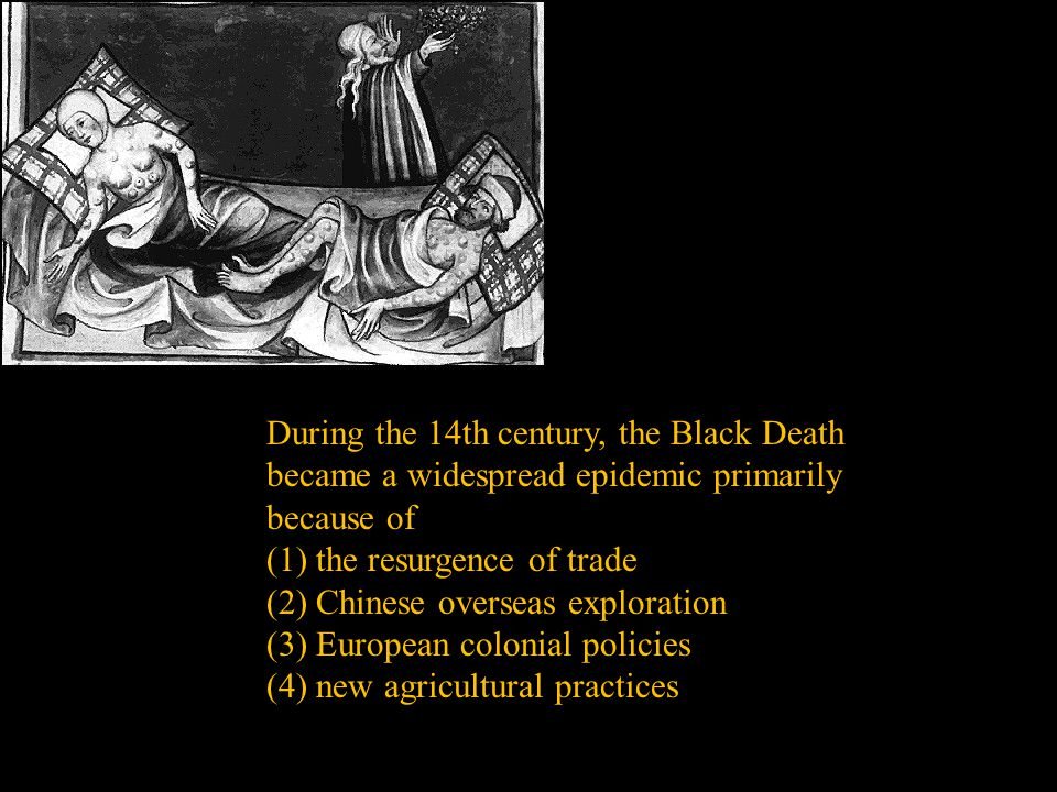 During the 14th century, the Black Death