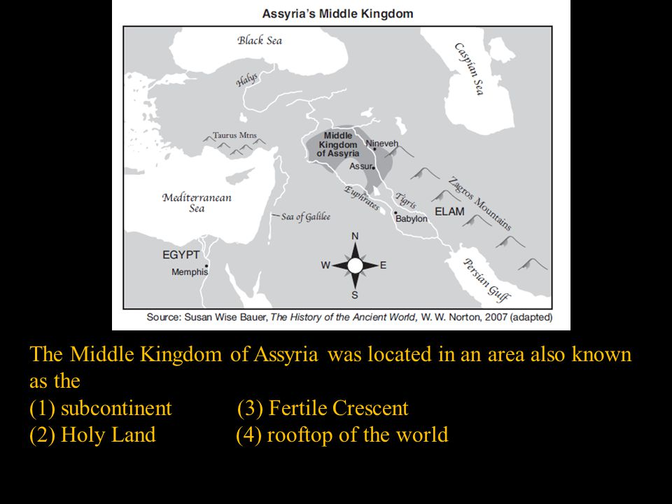 The Middle Kingdom of Assyria was located in an area also known as the