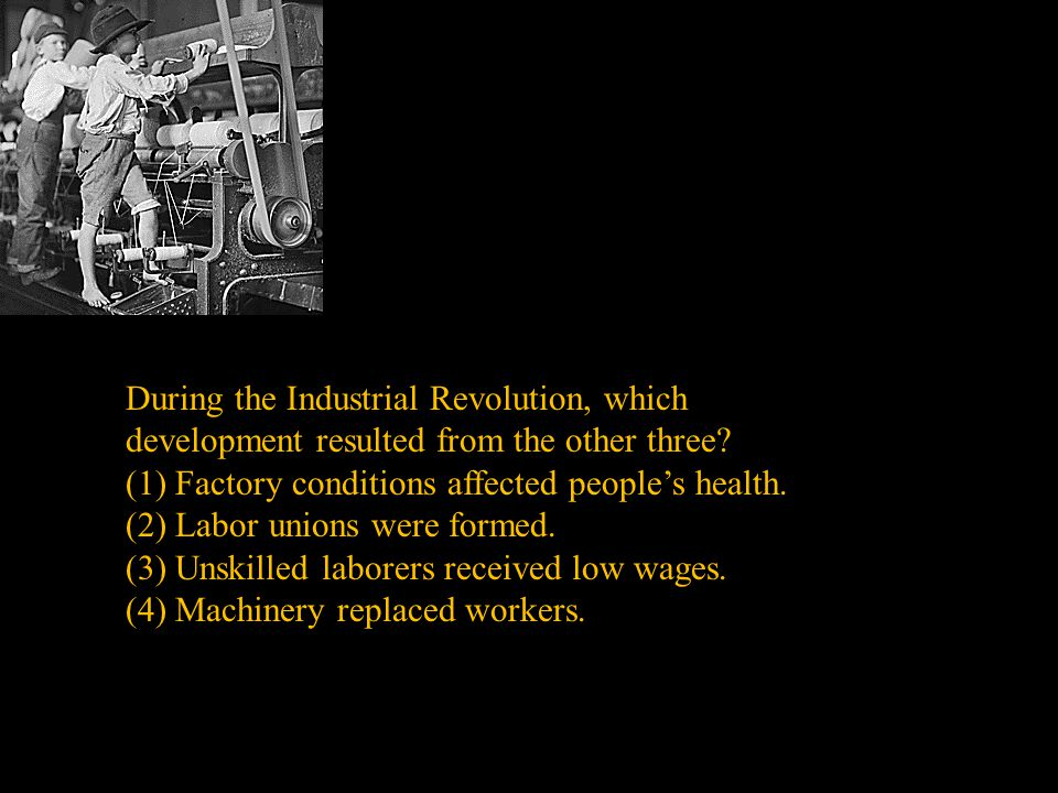 (1) Factory conditions affected people's health.