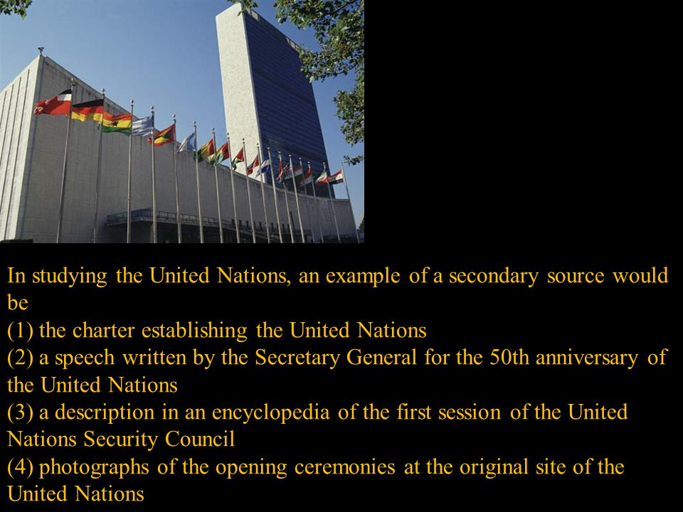 (1) the charter establishing the United Nations