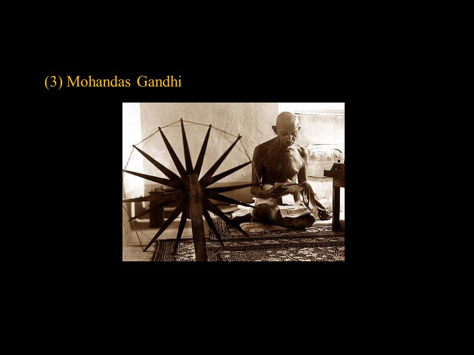 (3) Mohandas Gandhi Slide concept by William V. Ganis, PhD