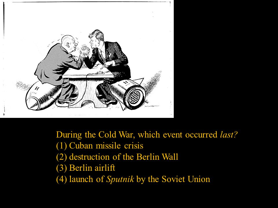 During the Cold War, which event occurred last
