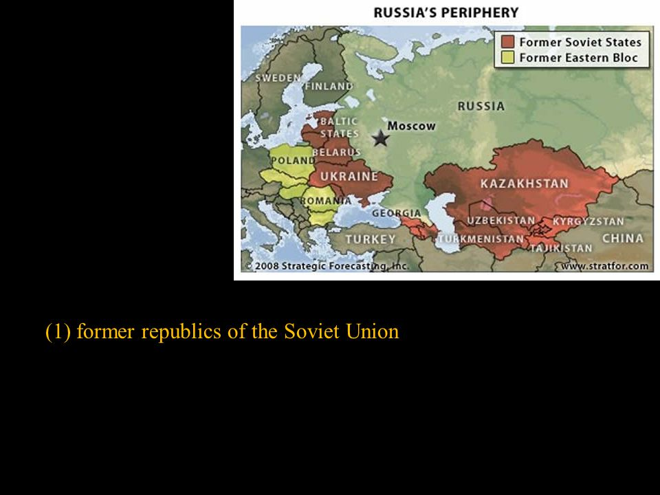 (1) former republics of the Soviet Union