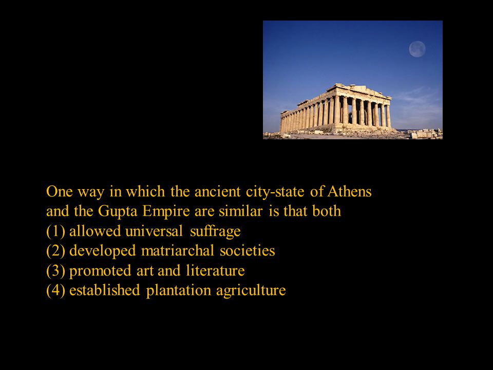 One way in which the ancient city-state of Athens