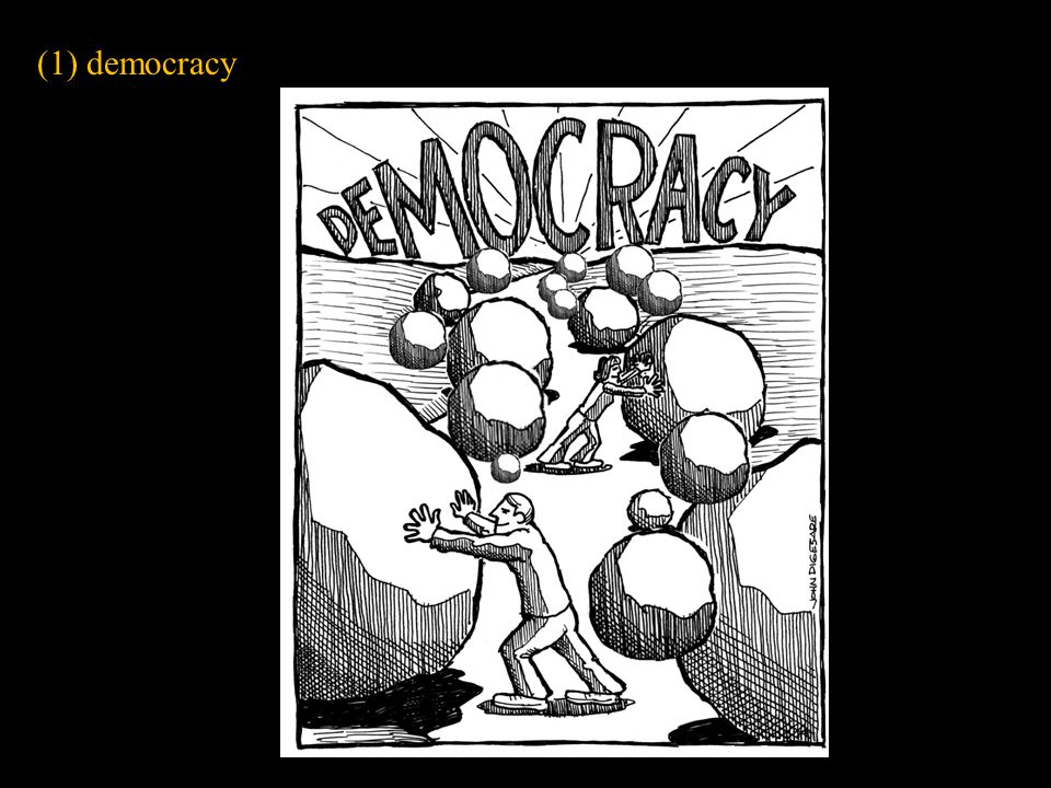 (1) democracy Slide concept by William V. Ganis, PhD