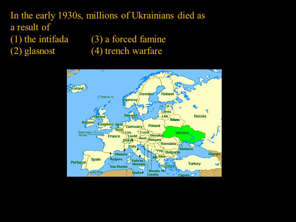 In the early 1930s, millions of Ukrainians died as a result of