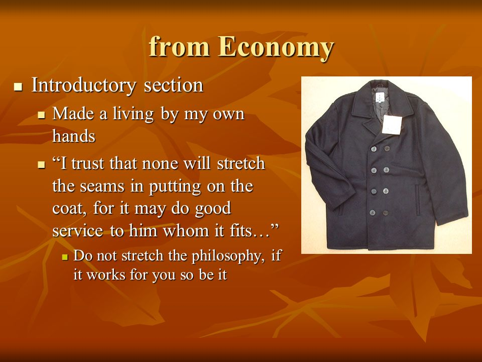 from Economy Introductory section Made a living by my own hands