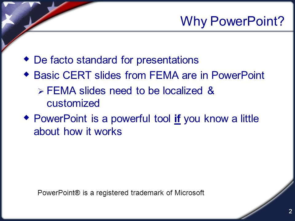 Why PowerPoint De facto standard for presentations