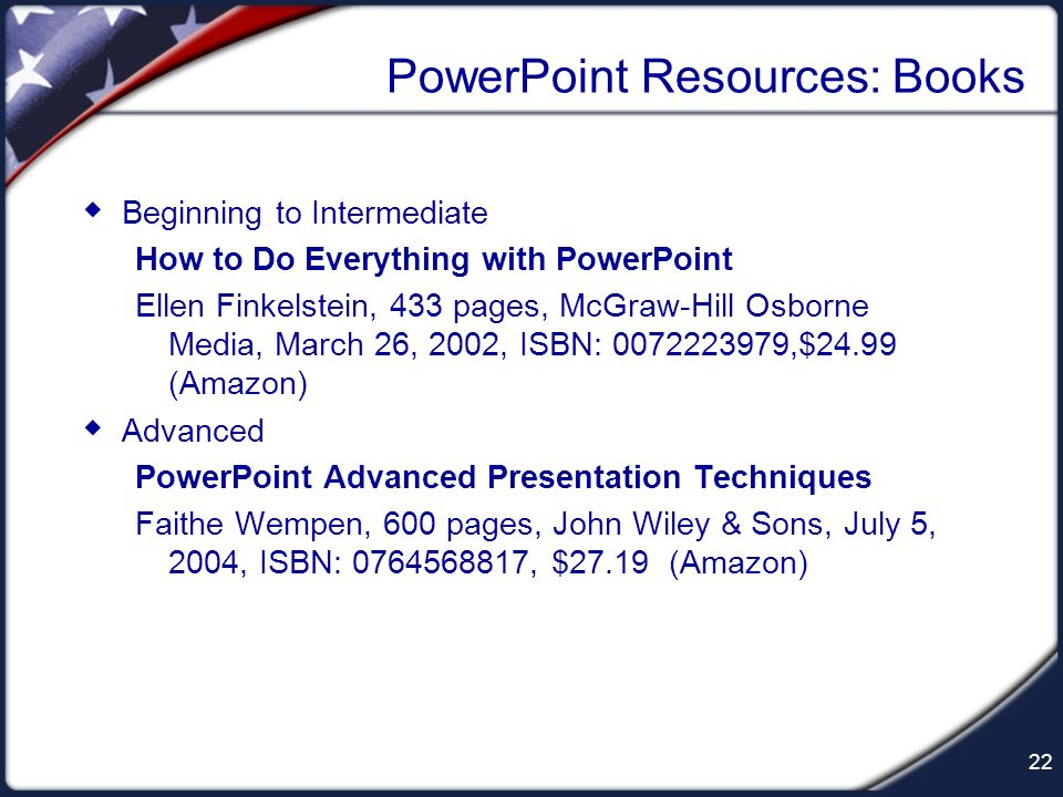 PowerPoint Resources: Books