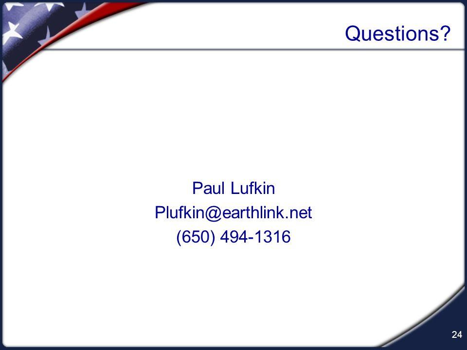 Paul Lufkin Plufkin@earthlink.net (650) 494-1316