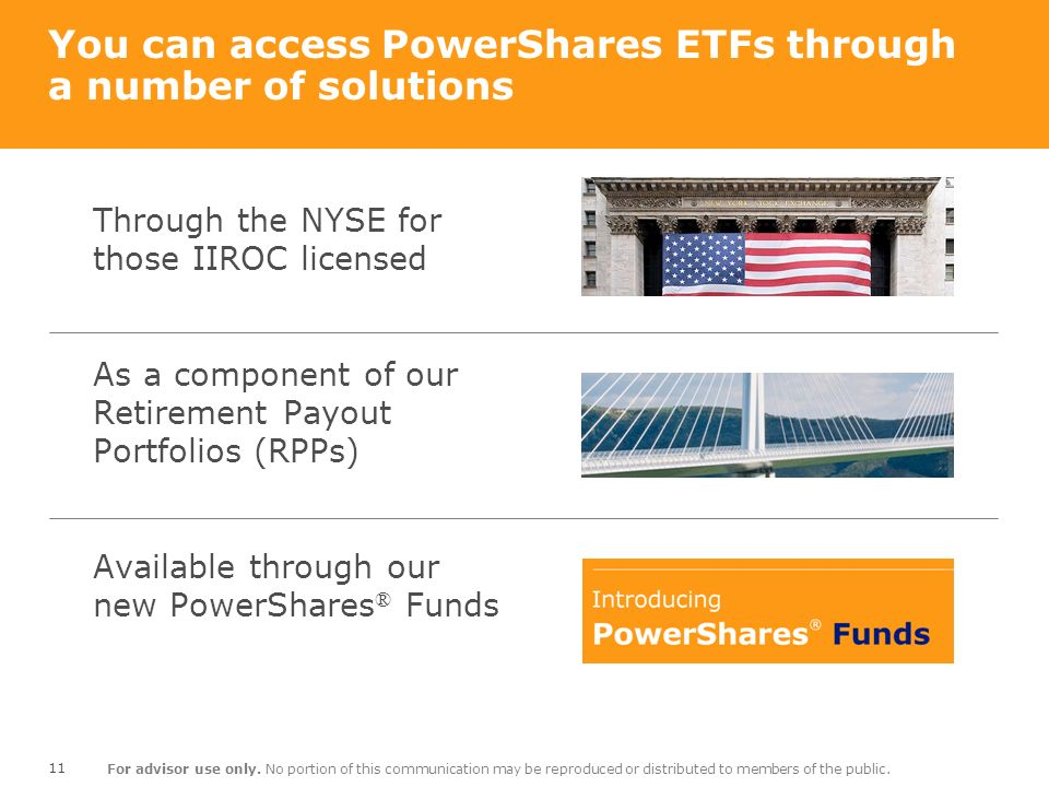 You can access PowerShares ETFs through a number of solutions