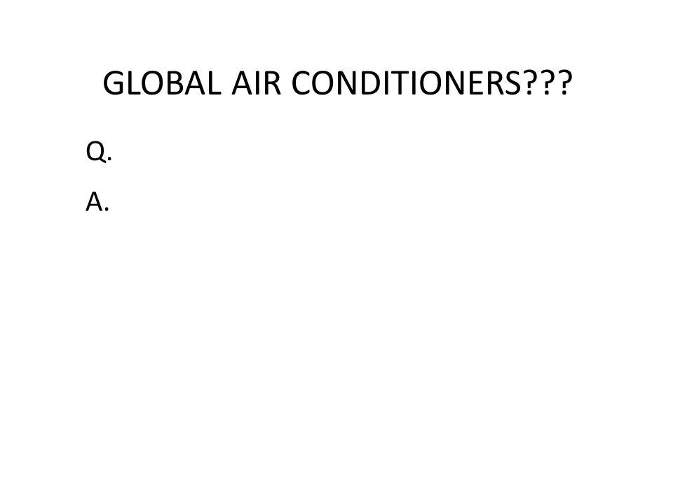 GLOBAL AIR CONDITIONERS