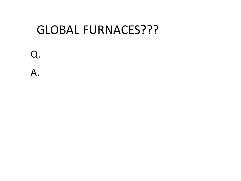 GLOBAL FURNACES Q. A.