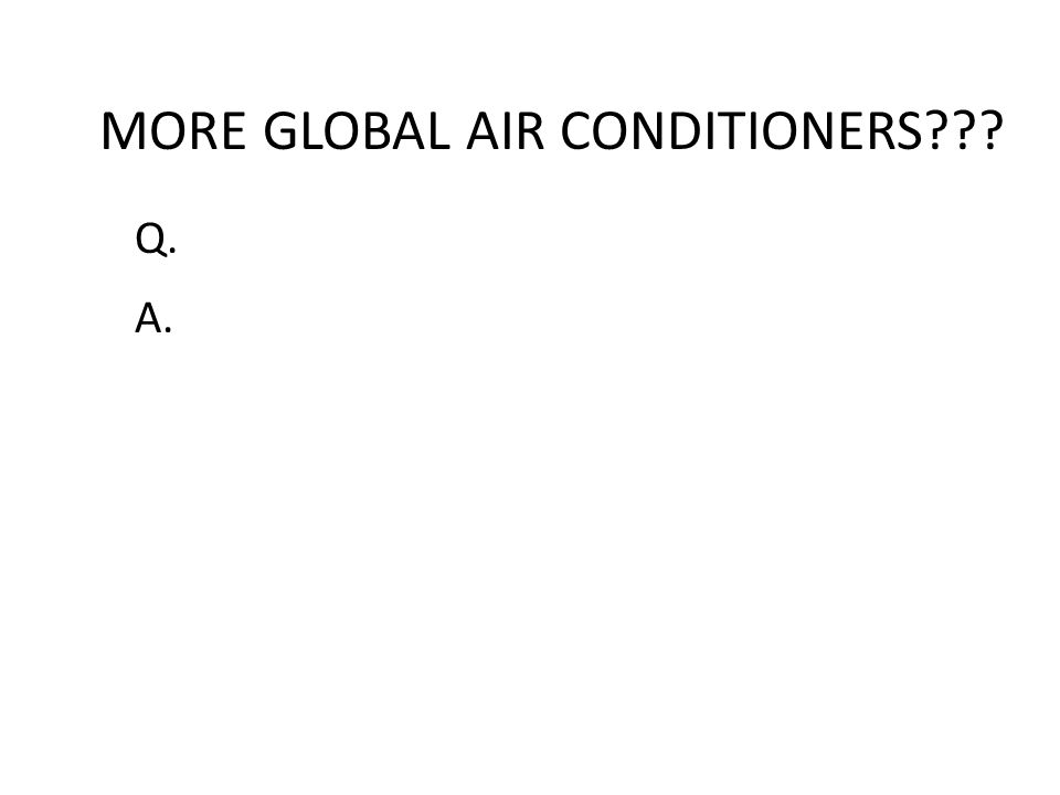 MORE GLOBAL AIR CONDITIONERS
