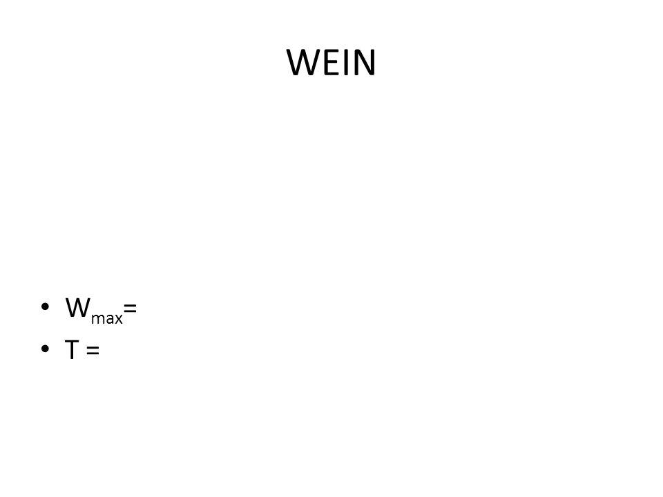 WEIN Wmax= T =