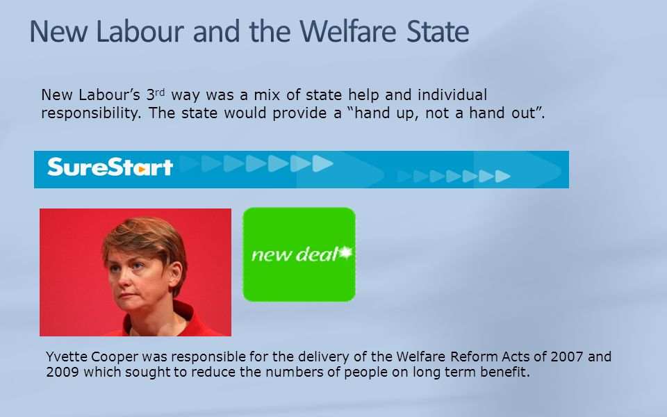 New Labour and the Welfare State