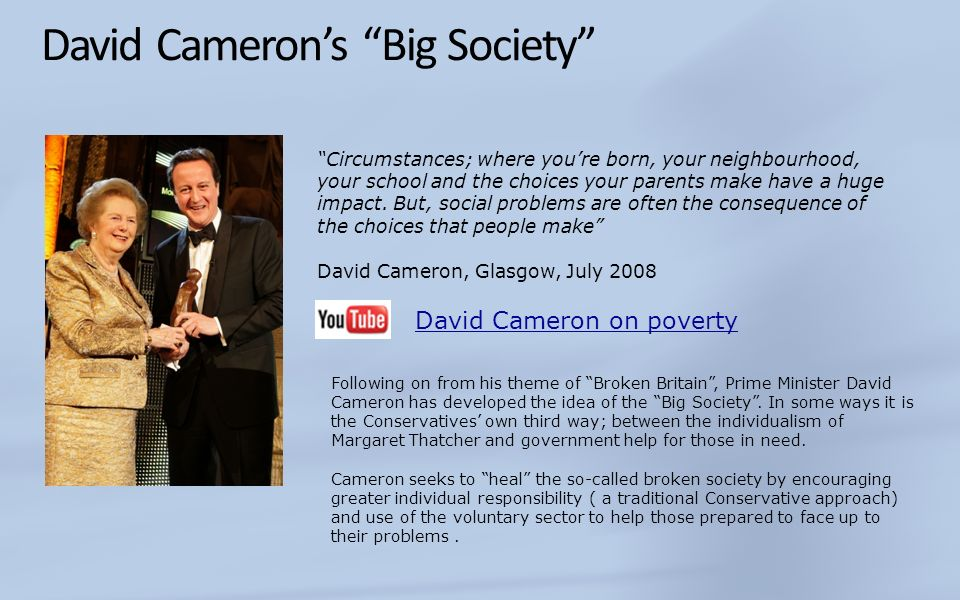 David Cameron's Big Society