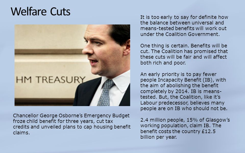 Welfare Cuts
