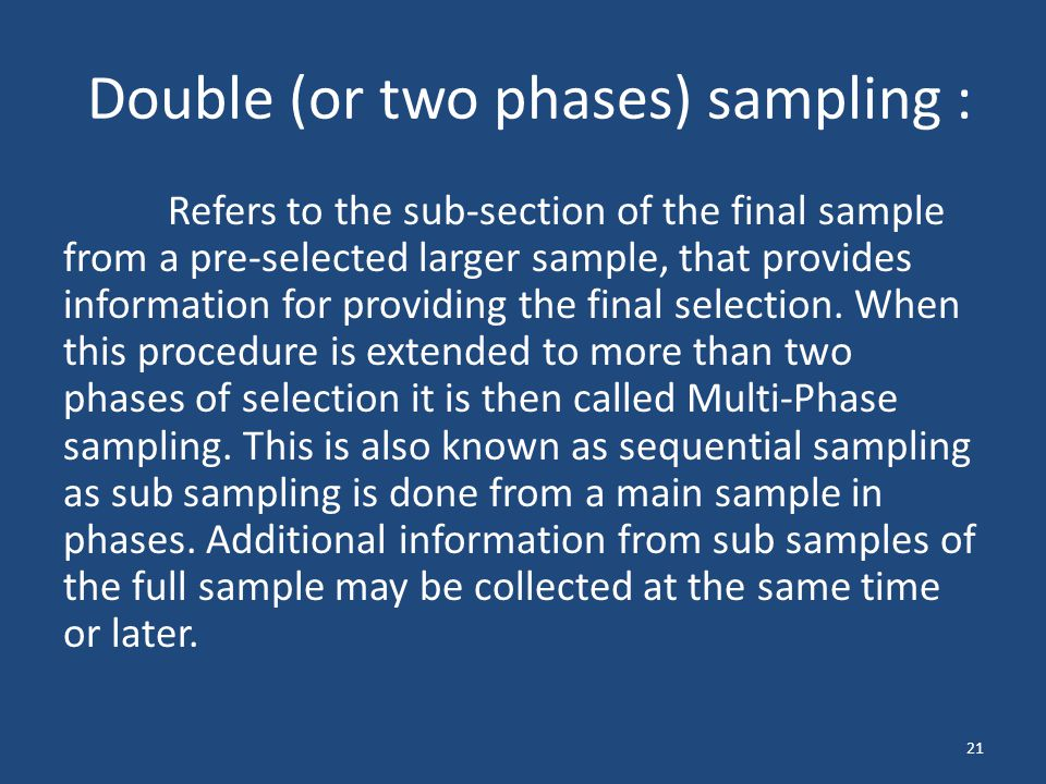 Double (or two phases) sampling :