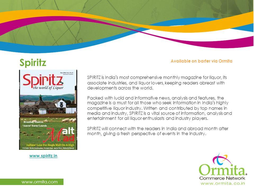 Spiritz www.ormita.com Available on barter via Ormita
