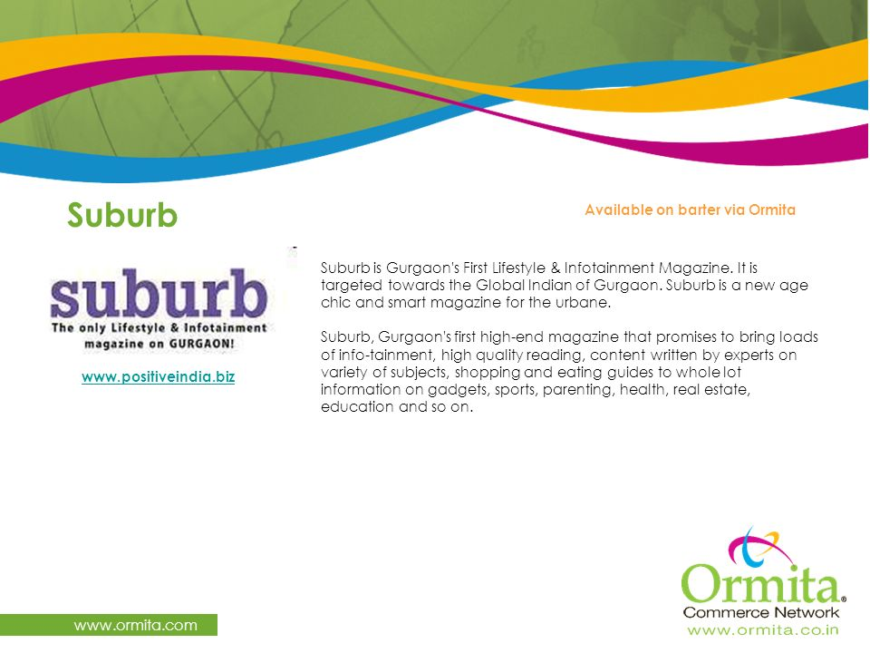 Suburb   Available on barter via Ormita