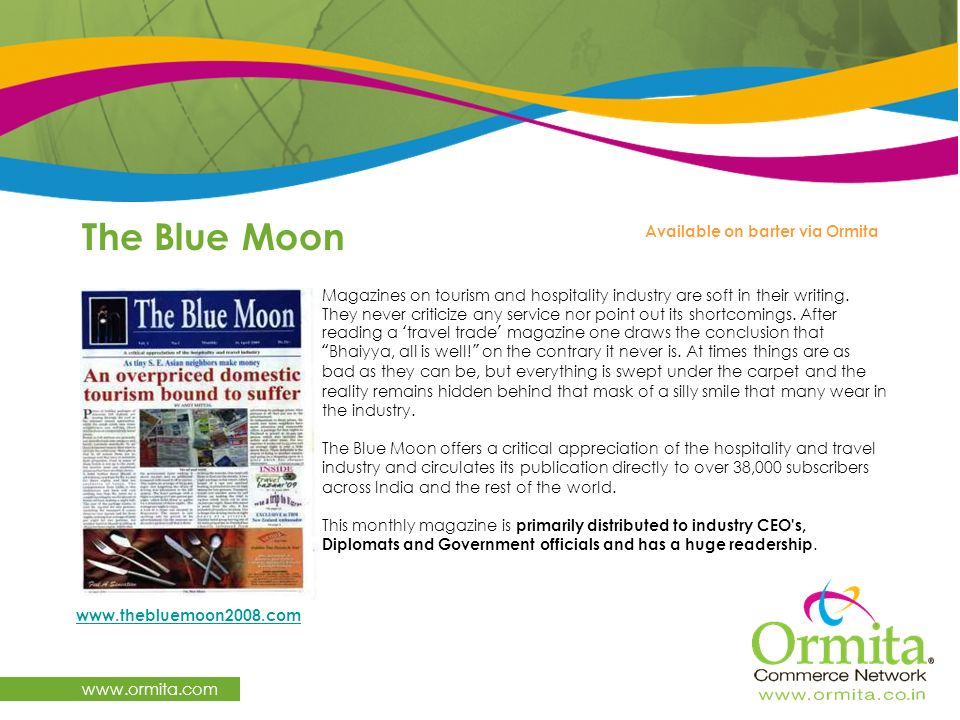 The Blue Moon   Available on barter via Ormita