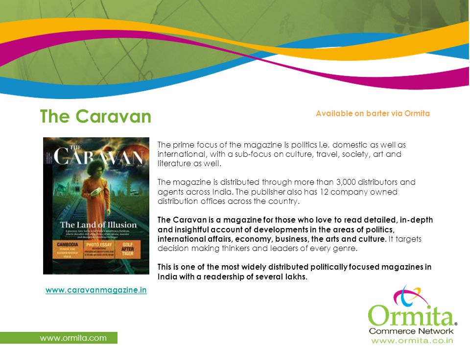 The Caravan   Available on barter via Ormita