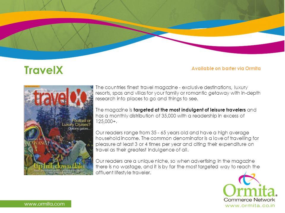 TravelX www.ormita.com Available on barter via Ormita