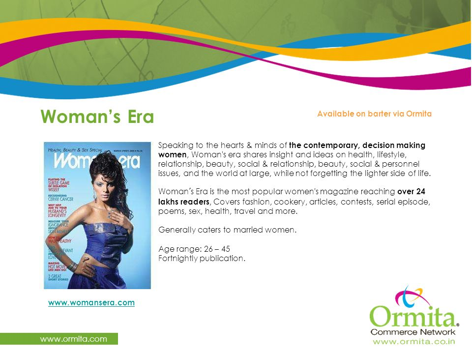 Woman's Era   Available on barter via Ormita