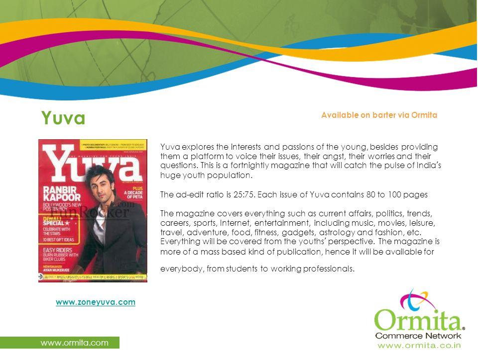 Yuva www.ormita.com Available on barter via Ormita