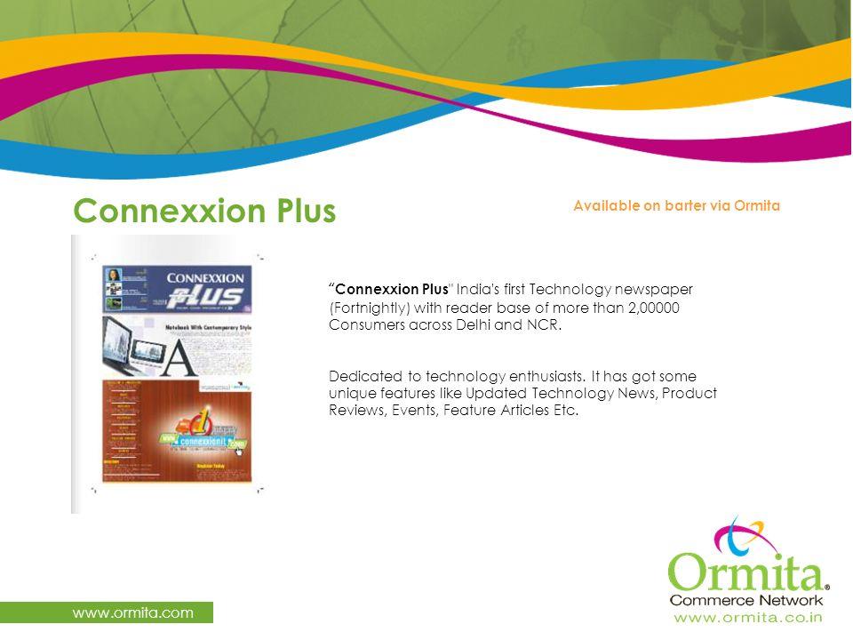 Connexxion Plus www.ormita.com Available on barter via Ormita
