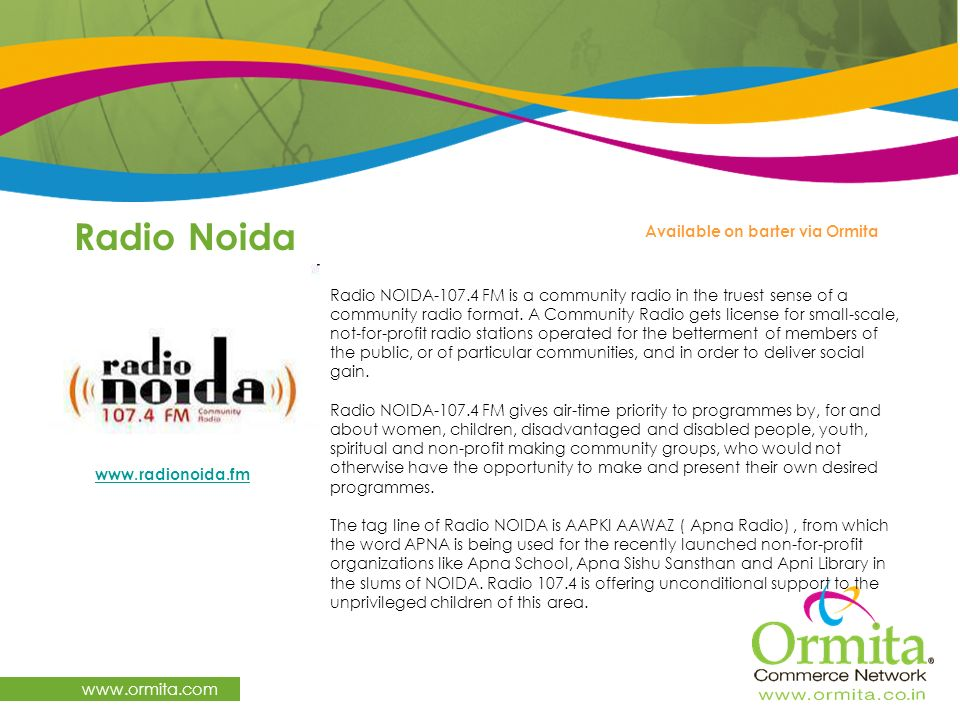 Radio Noida   Available on barter via Ormita