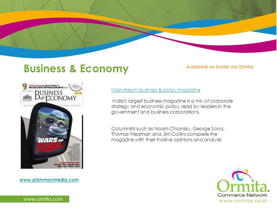 Business & Economy www.ormita.com Available on barter via Ormita