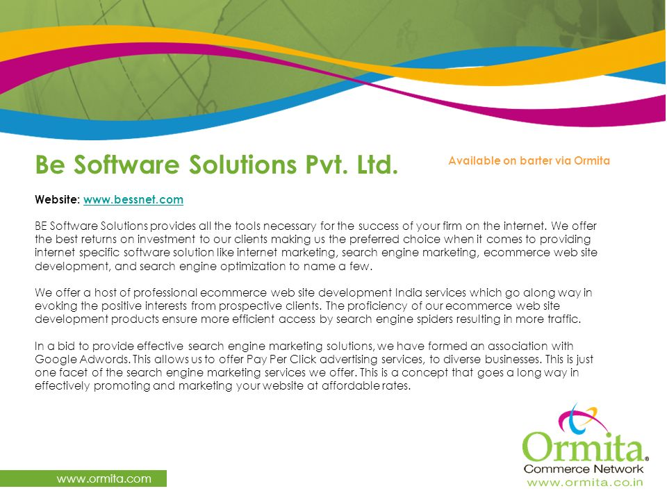 Be Software Solutions Pvt. Ltd.