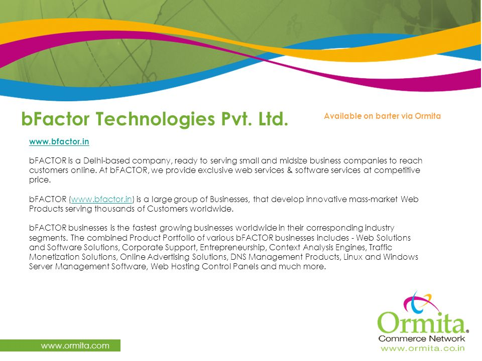 bFactor Technologies Pvt. Ltd.