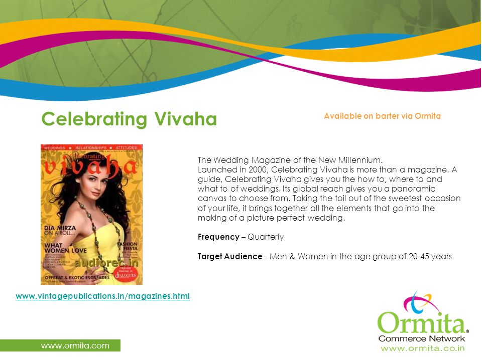 Celebrating Vivaha   Available on barter via Ormita