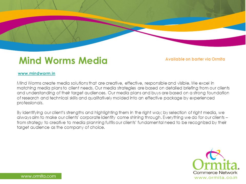 Mind Worms Media   Available on barter via Ormita