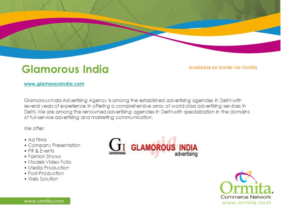 Glamorous India   Available on barter via Ormita