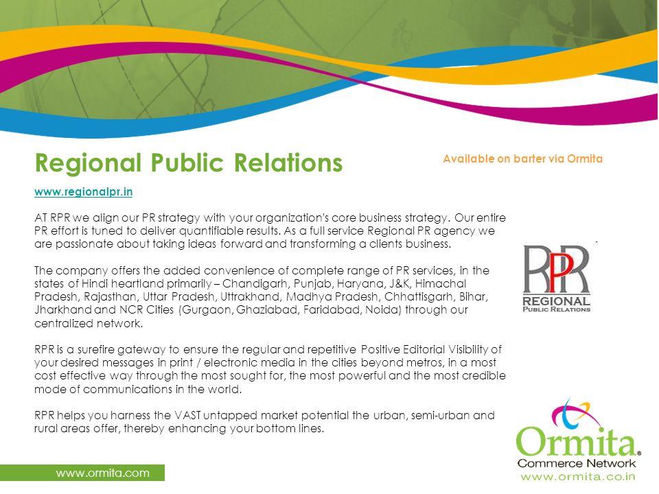 Regional Public Relations