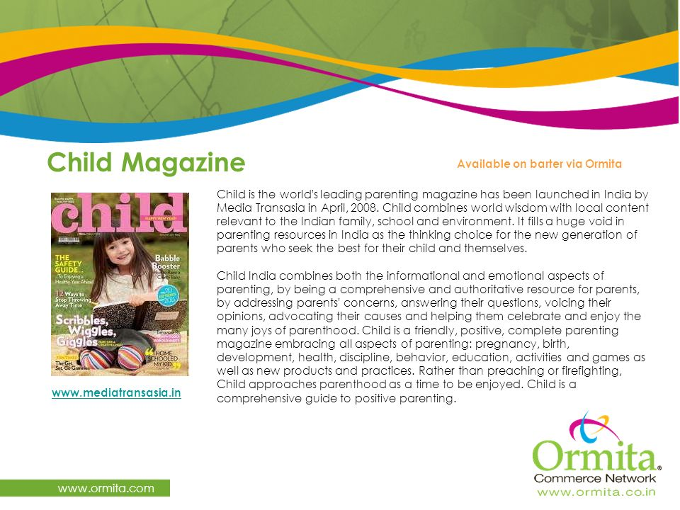 Child Magazine   Available on barter via Ormita