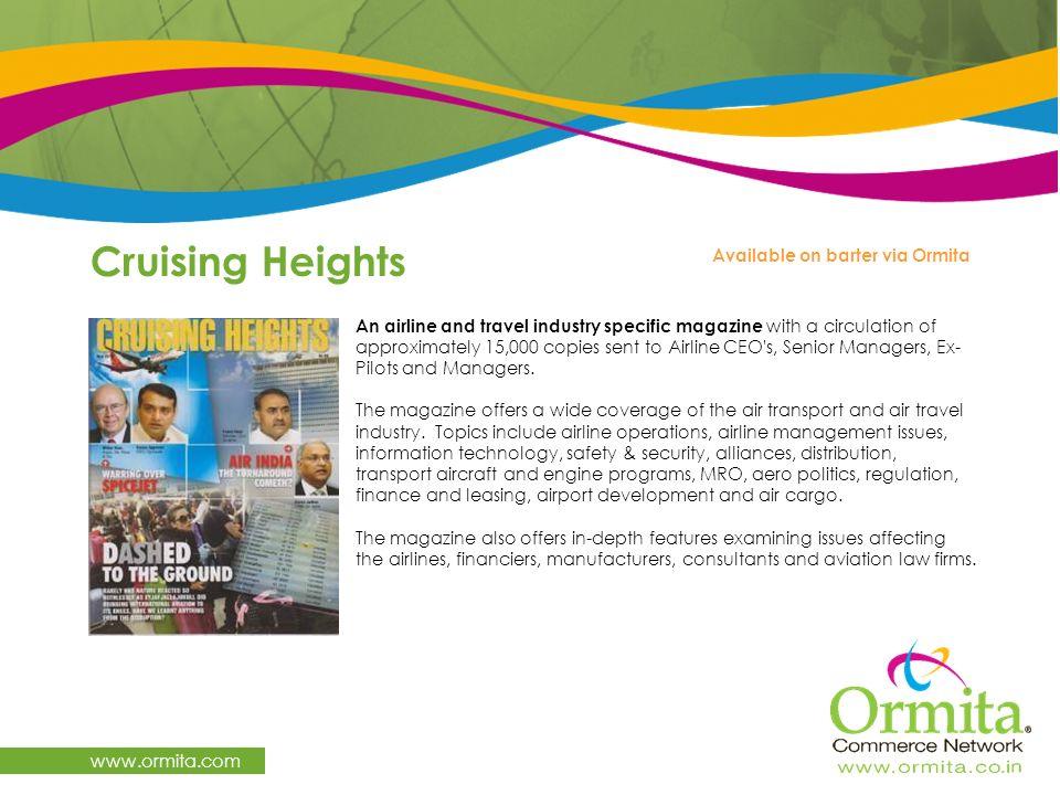 Cruising Heights www.ormita.com Available on barter via Ormita