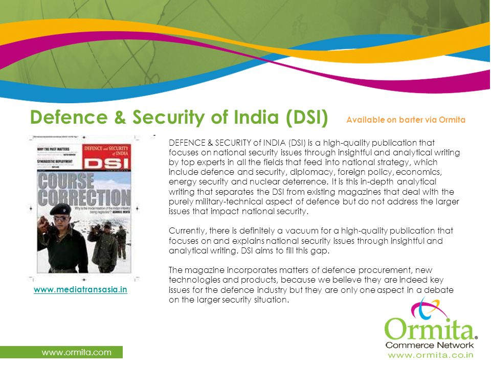 Defence & Security of India (DSI)