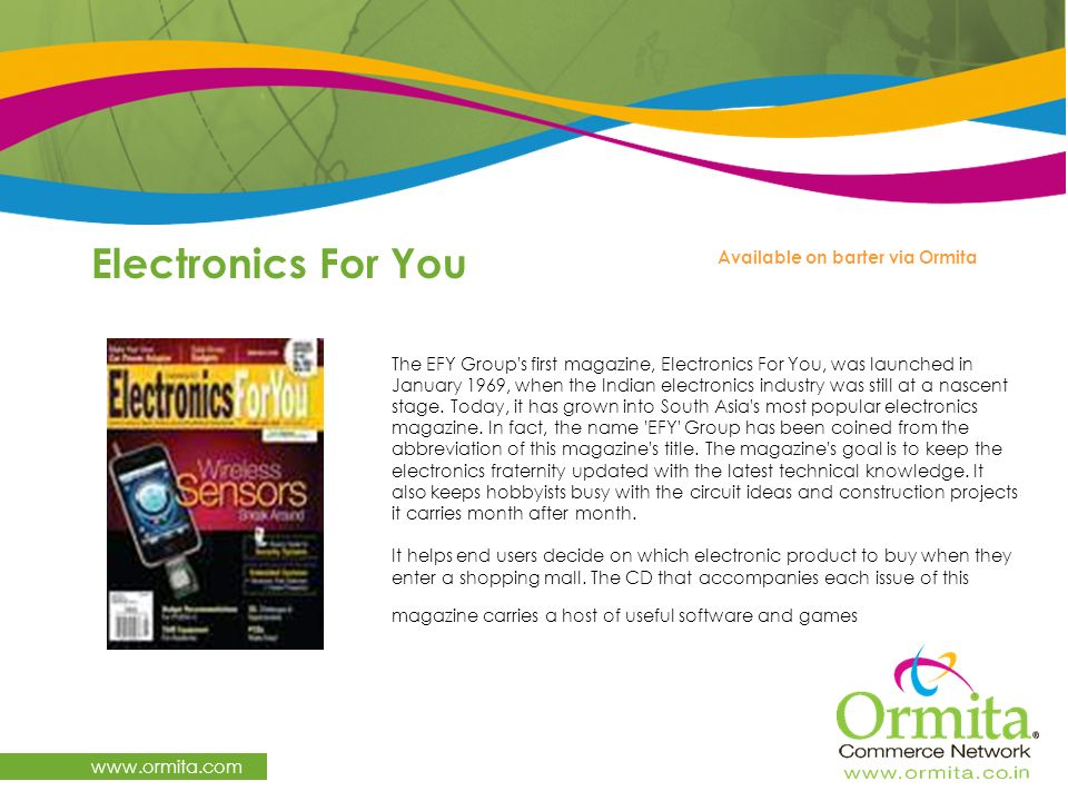 Electronics For You www.ormita.com Available on barter via Ormita
