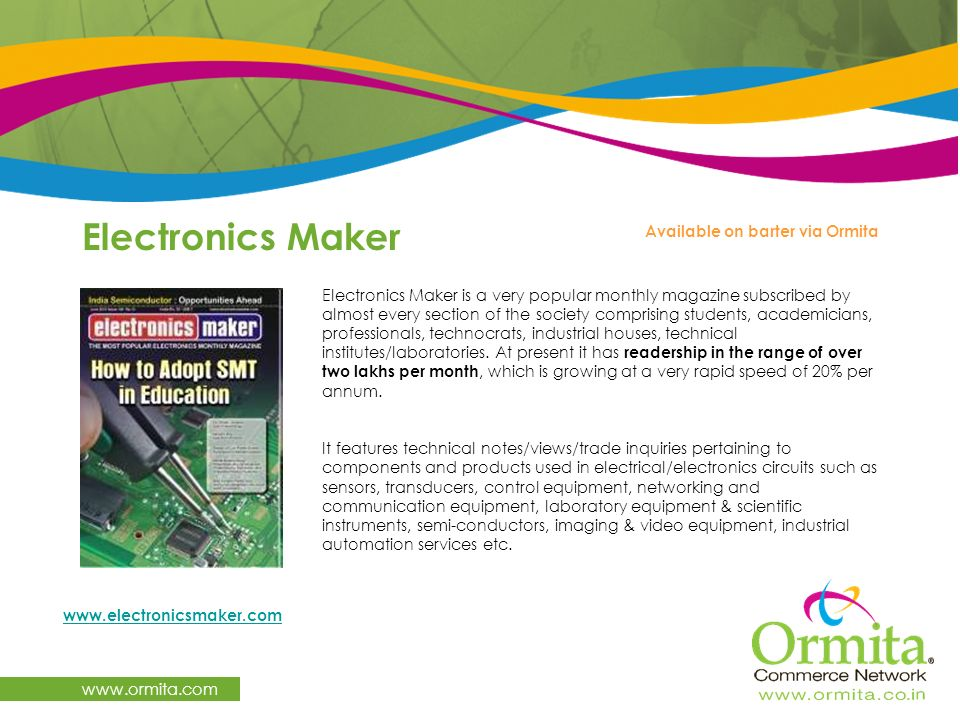 Electronics Maker   Available on barter via Ormita