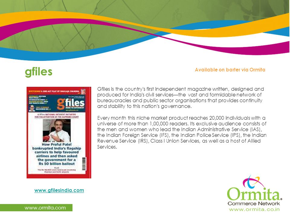 gfiles www.ormita.com Available on barter via Ormita