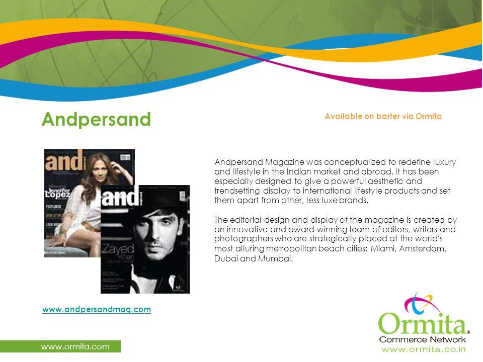 Andpersand www.ormita.com Available on barter via Ormita