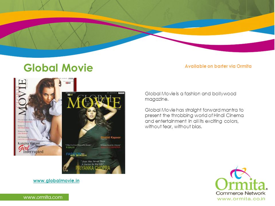 Global Movie   Available on barter via Ormita