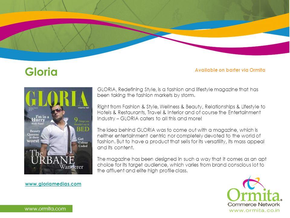 Gloria www.ormita.com Available on barter via Ormita