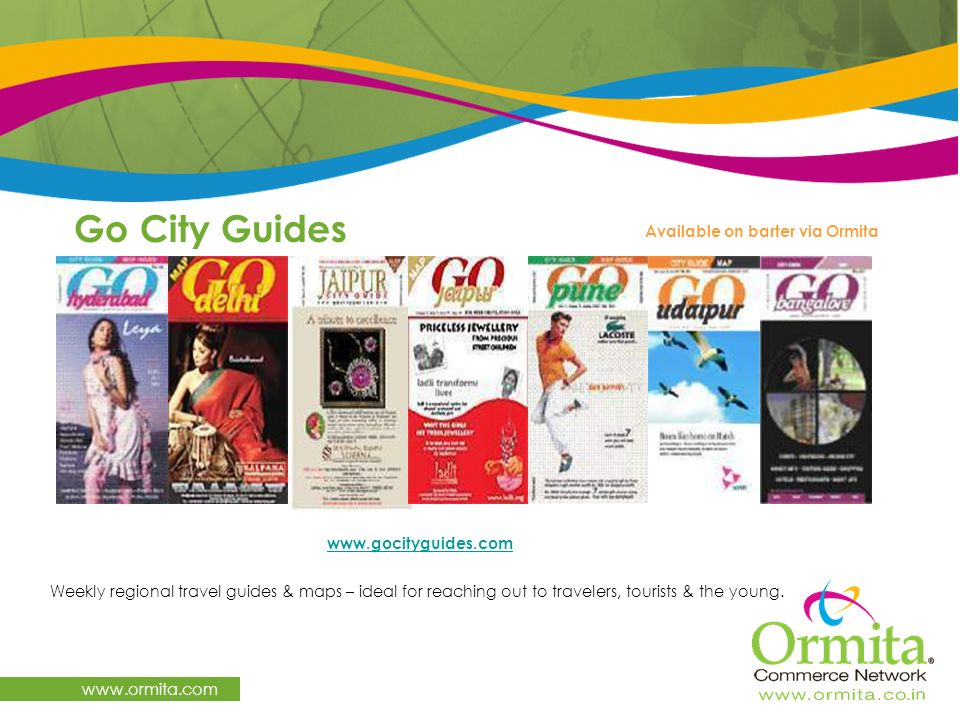 Go City Guides   Available on barter via Ormita